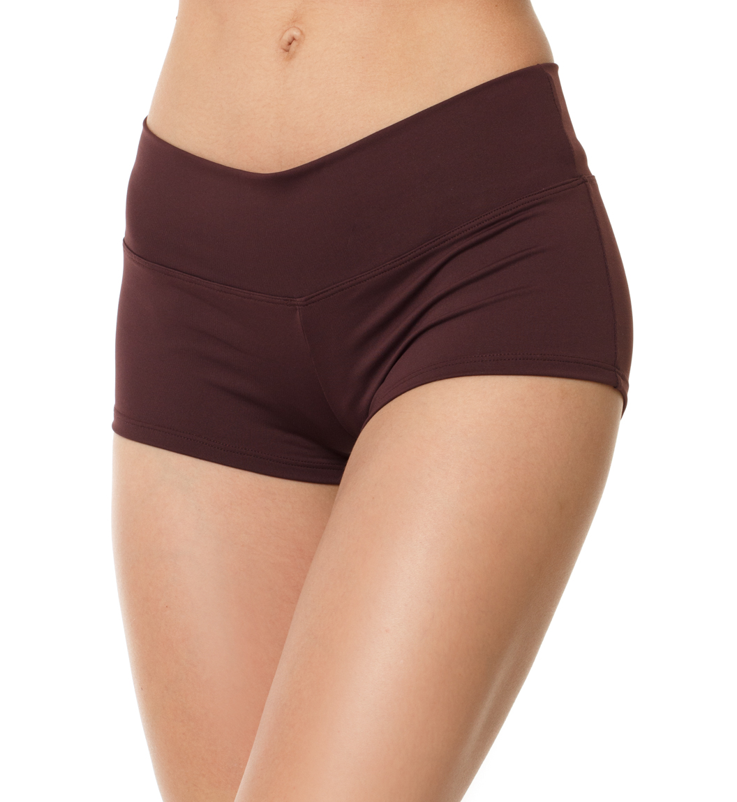 Competition shorts carbon/wine