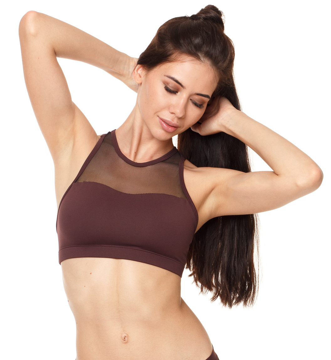 Flow Mesh top wine