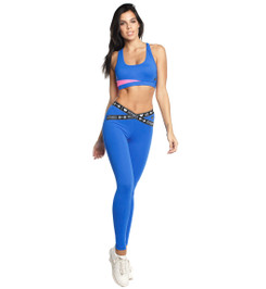 Vibe top blue/pink