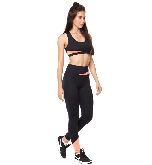 Vibe leggings black/coral