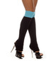 LEG WARMERS BLACK/BLUE