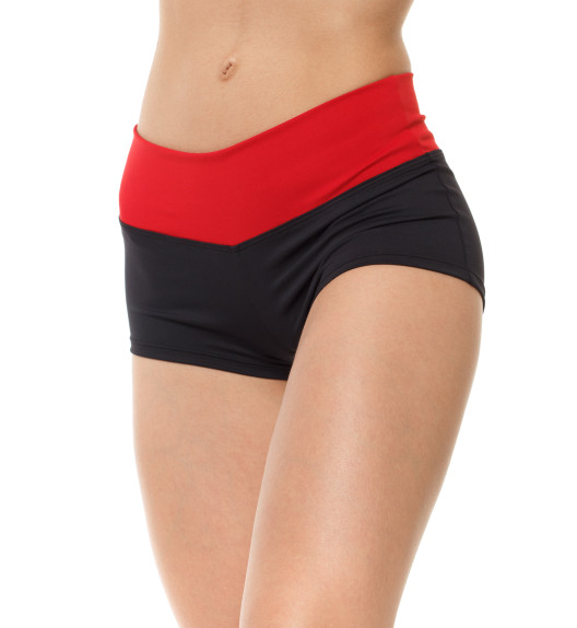 Competition shorts black/red