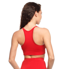 Push-up top with pads red