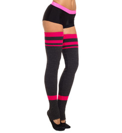 HIGH LEG WARMERS CARBON/CRIMSON