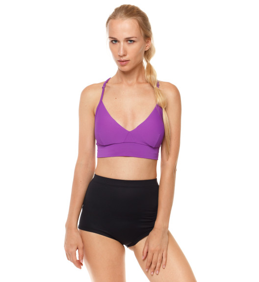 Push-up top with pads purple
