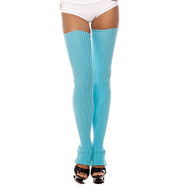 HIGH LEG WARMERS BLUE