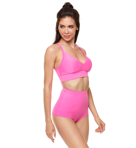 Push-up top with pads pink